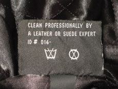 Fabric Care Label